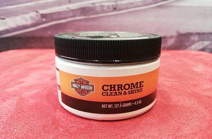 Harley chrome clean & shine